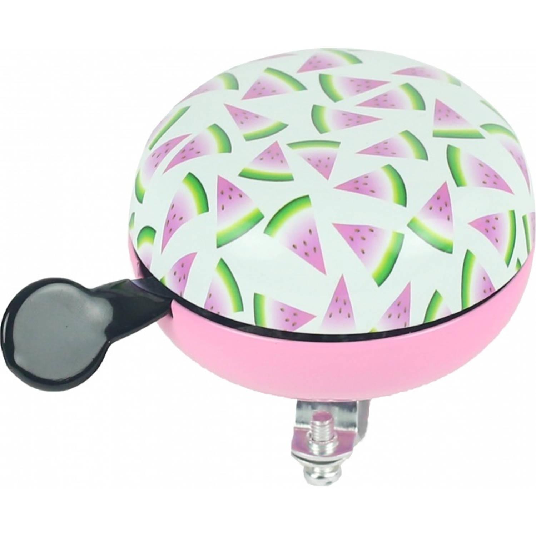 Widek fietsbel Watermeloen wit/roze 80 mm