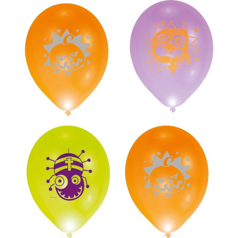 Balloominate ballonnen met led-verlichting Halloween 28 cm 5 stuks ...