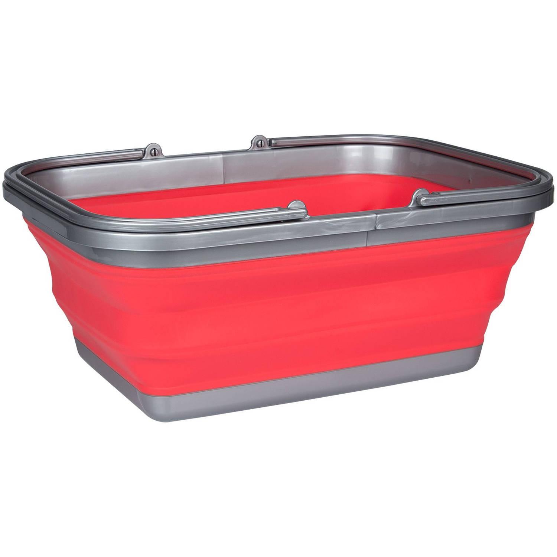 Afbeelding van Abbey Camp afwasteil opvouwbaar 16 liter rood
