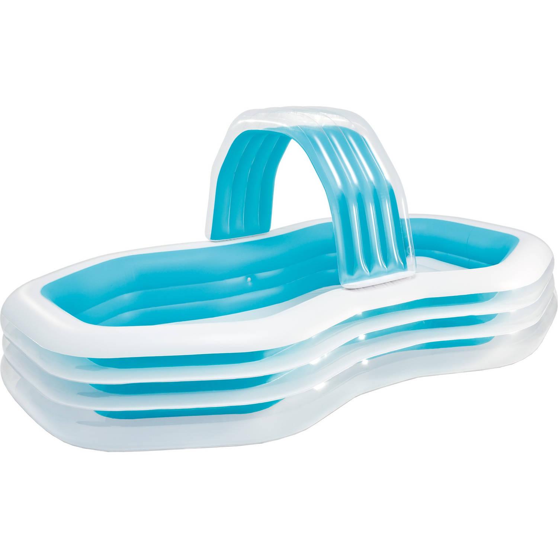 Familiezwembad met luifel