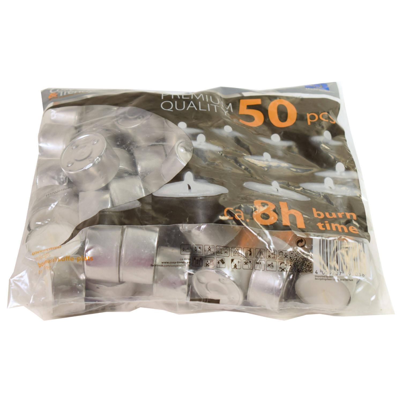 Cosy&Trendy Waxinelichtjes 8 uur (50 stuks)