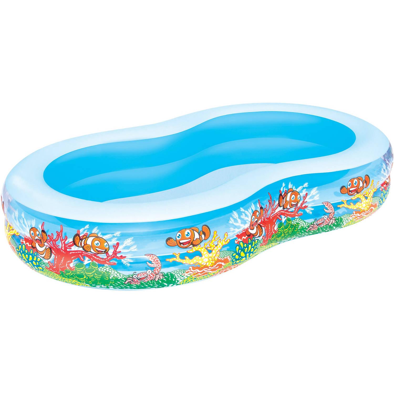 Opblaasbaar Seaworld familiespeelbad - achtvormig