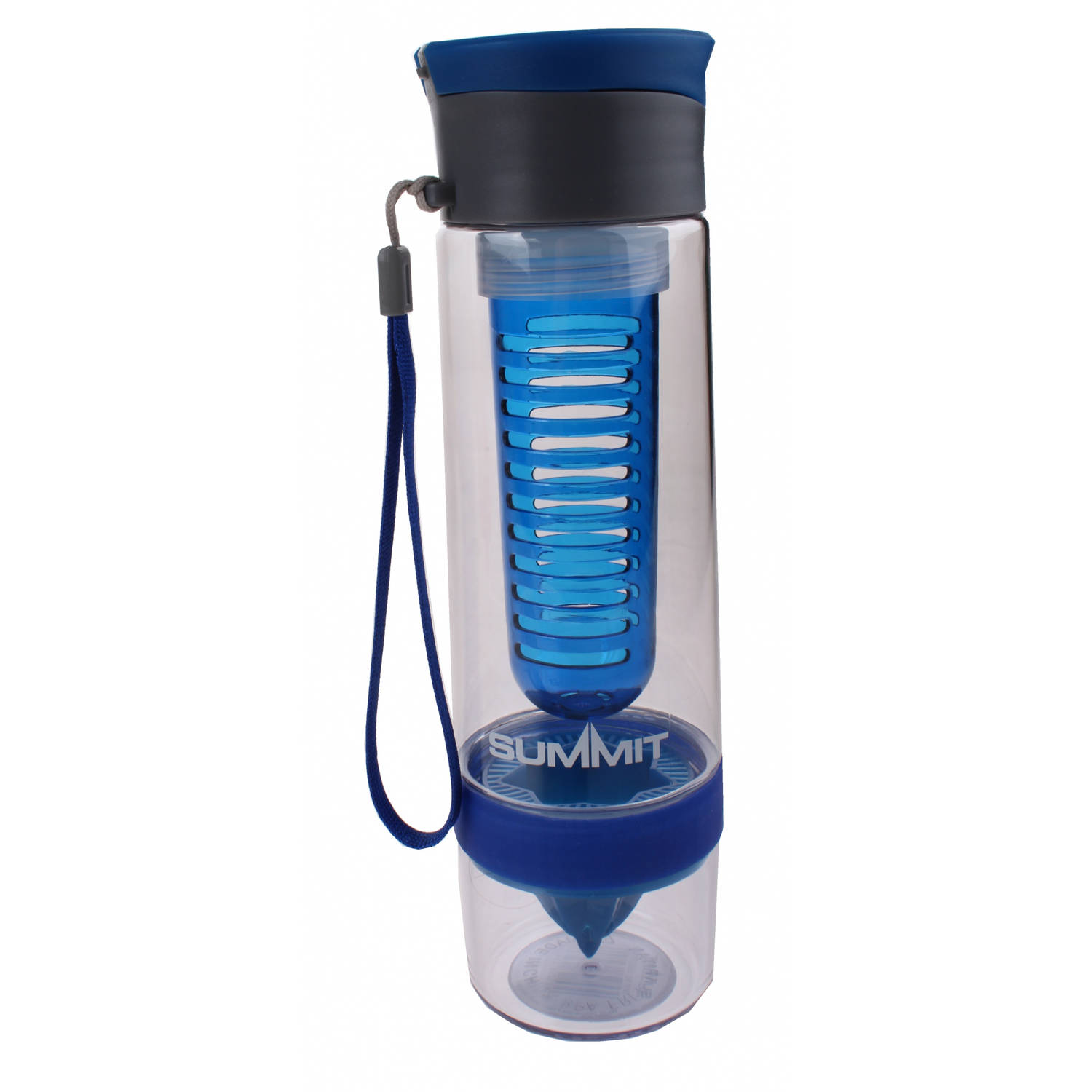Summit drinkfles Dual Infuser 750 ml blauw