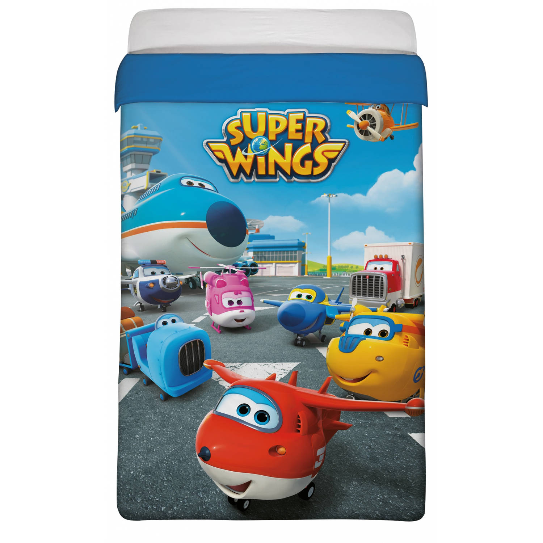 Super Wings deken blauw 180 x 260 cm