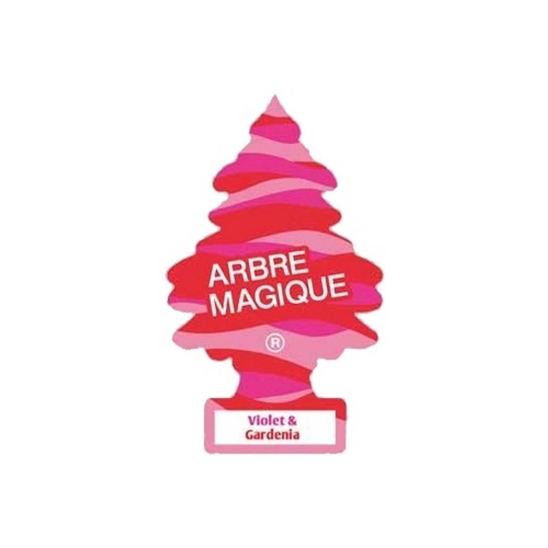 Afbeelding van Arbre Magique luchtverfrisser 12 x 7 cm Voilet & Gardenia roze