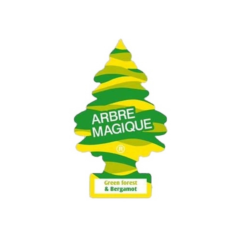 Afbeelding van Arbre Magique luchtverfrisser 12 x 7 cm Forest & Bergamot groen