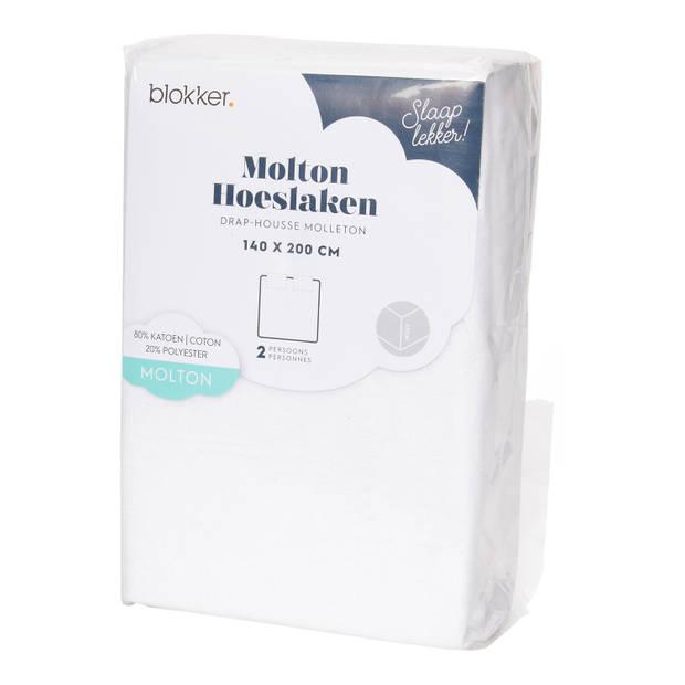 Molton Str Wit 140x200