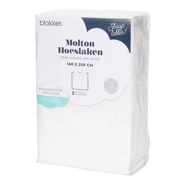 Molton Str Wit 160x200