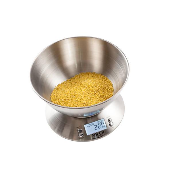 Adler AD 3134 - Keukenweegschaal - elektronisch - RVS