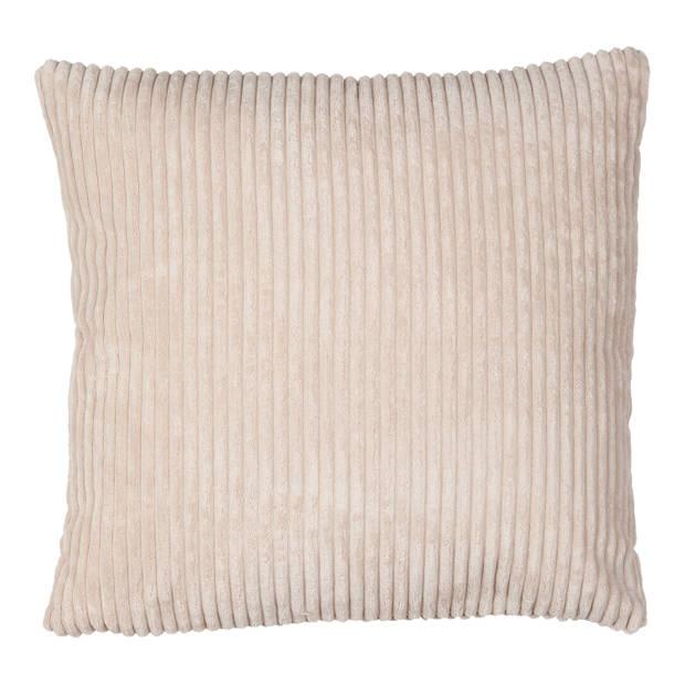Kussenhoes polyester Rib zandkleurig 45x45 cm