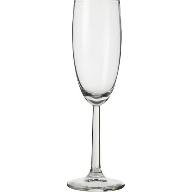 Blokker Plus champagneglazen - 18 cl - set van 4