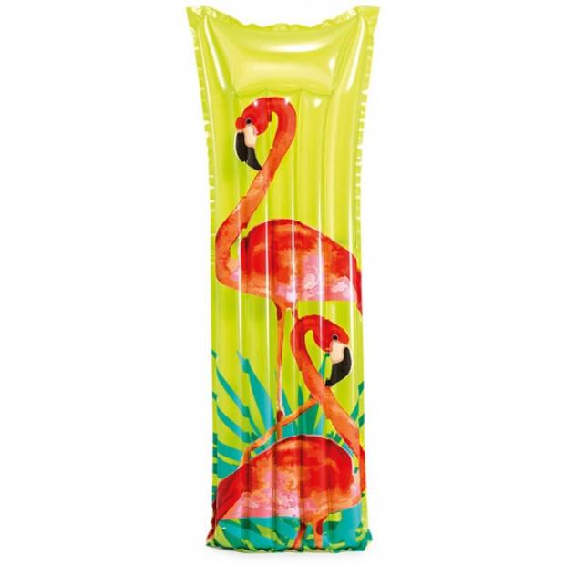 Intex luchtbed Flamingo 183 x 69 cm groen