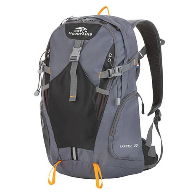 Dutch Mountains 'IJssel' Backpack Lichtgewicht Rugzak Hydratatie-opening Regenhoes 13' Laptopvak 20 Liter