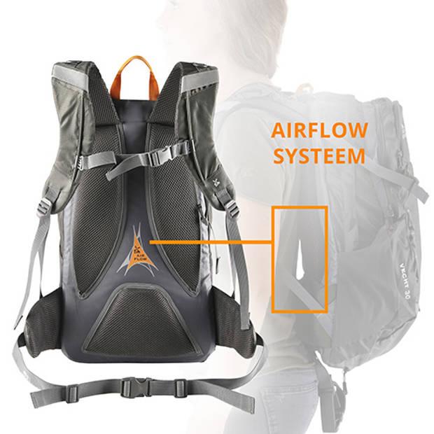 Dutch Mountains 'Vecht' Backpack Outdoor Lichtgewicht Rugzak Regenhoes Hydratatie-opening 30 Liter Groen