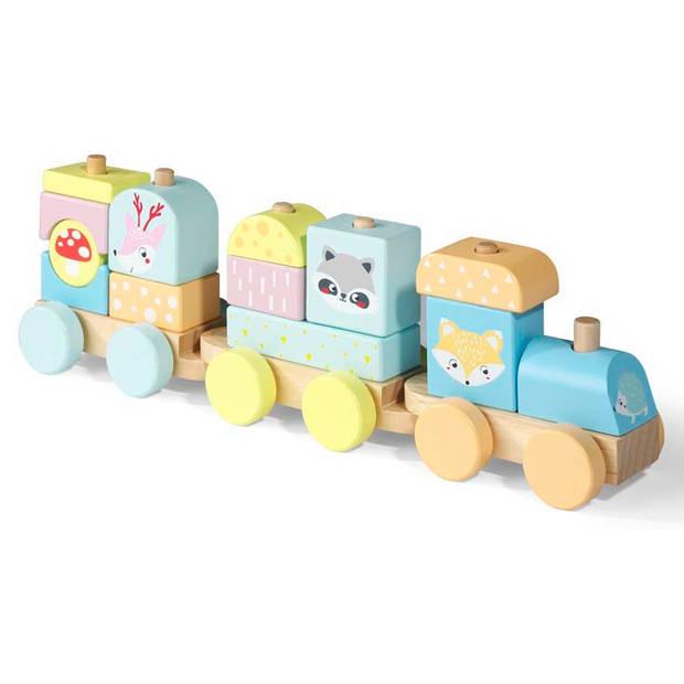 Blokker Wood World houten speelgoedtrein