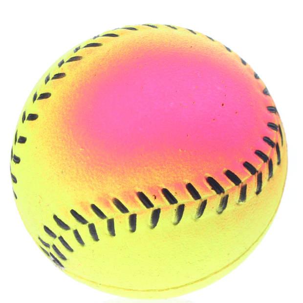 Toyrific honkbal soft Regenboog junior 6,3 cm rubber