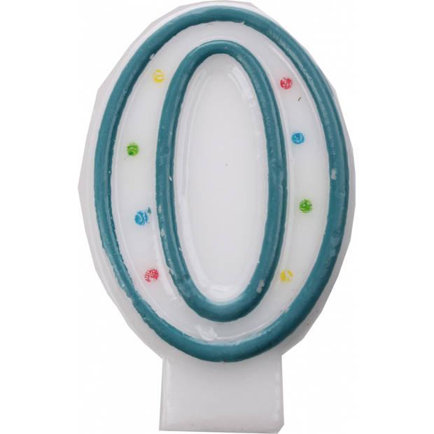 Amscan verjaardagskaars nummer 0 blauw