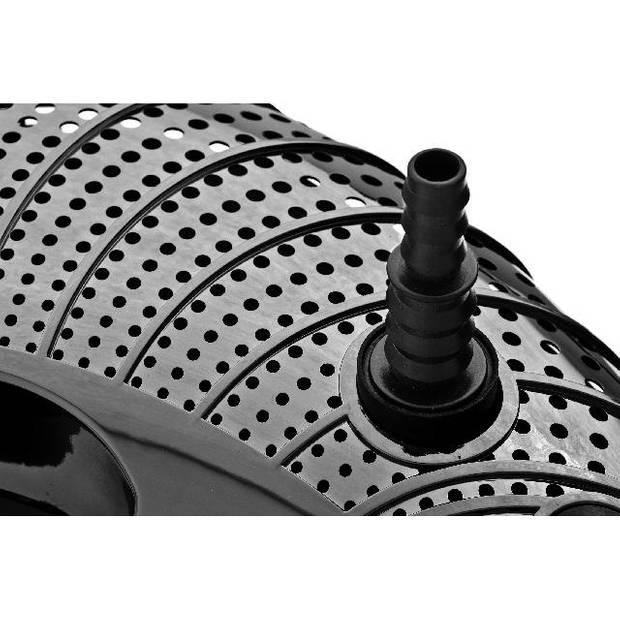 HEISSNER vijverfilter- en beeklooppomp 6600 l/u grijs/zwart
