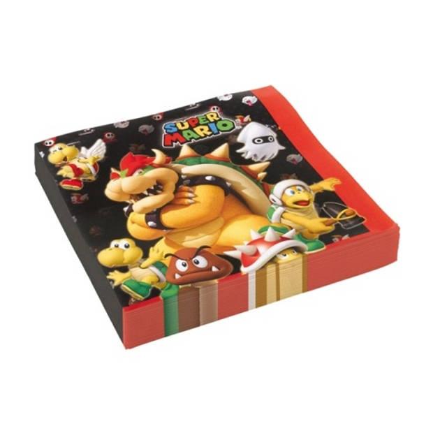 Amscan servetten Super Mario 33 x 33 cm 20 stuks