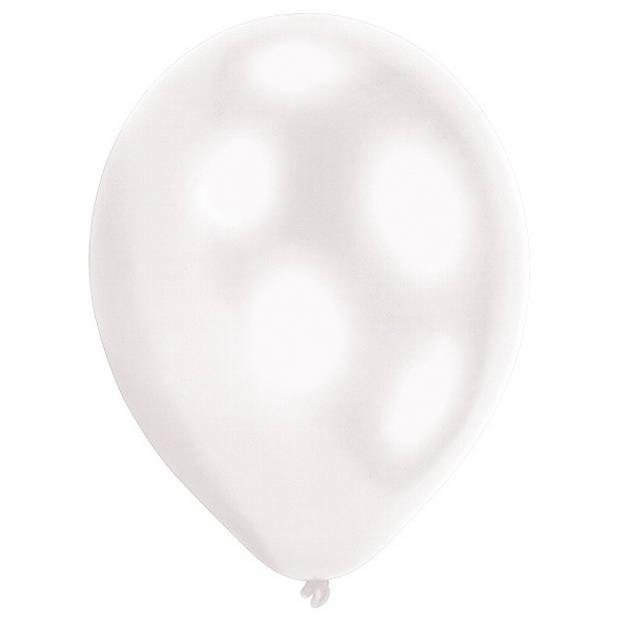 Amscan ballonnen led 27,5 cm latex wit 5 stuks