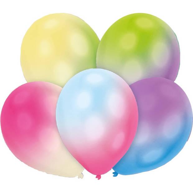 Amscan ballonnen 27,5 cm led latex 5 stuks