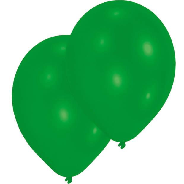 Amscan ballonnen Standard 27,5 cm latex donkergroen 10 stuks