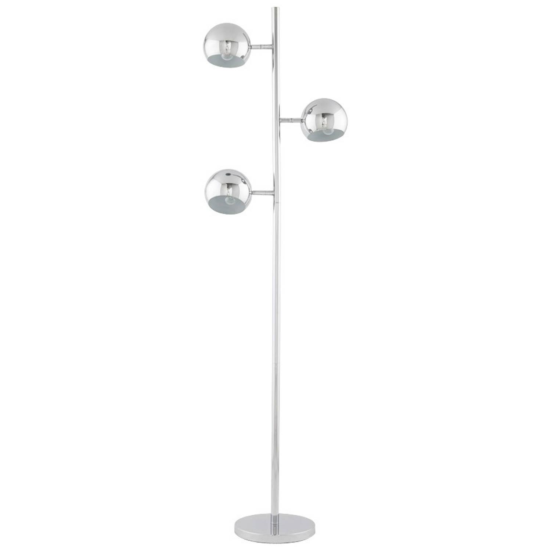 24Designs Vloerlamp Trias - 3-Lichts - Chroom