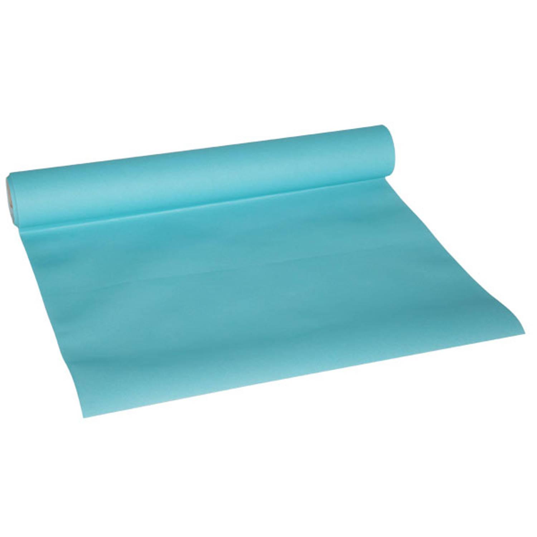 Korting Cosy en Trendy Tafelloper 0,40 X 4,8 Meter (Turquoise)
