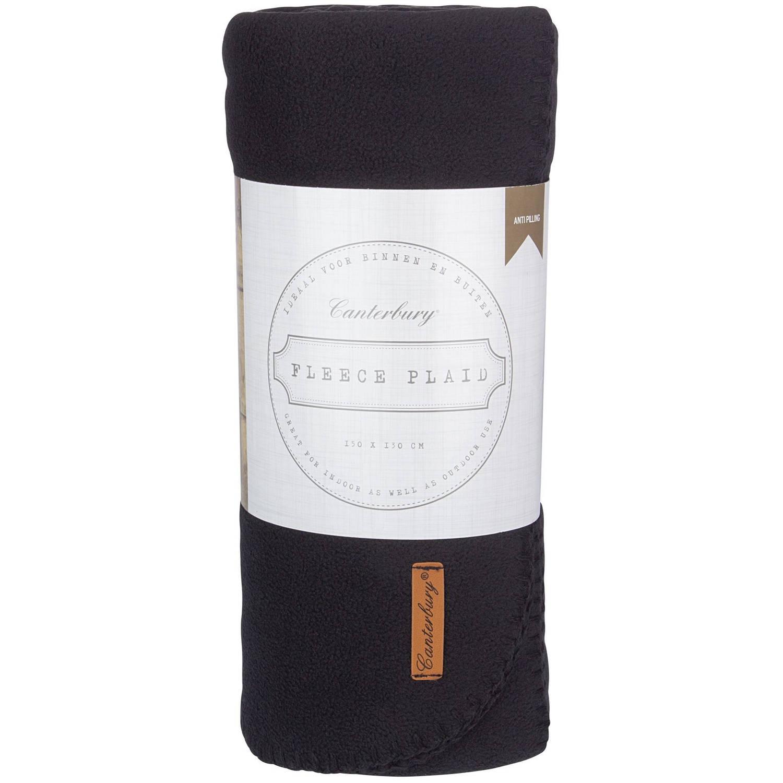 Canterbury fleece-deken Cozy 150 x 130 cm zwart