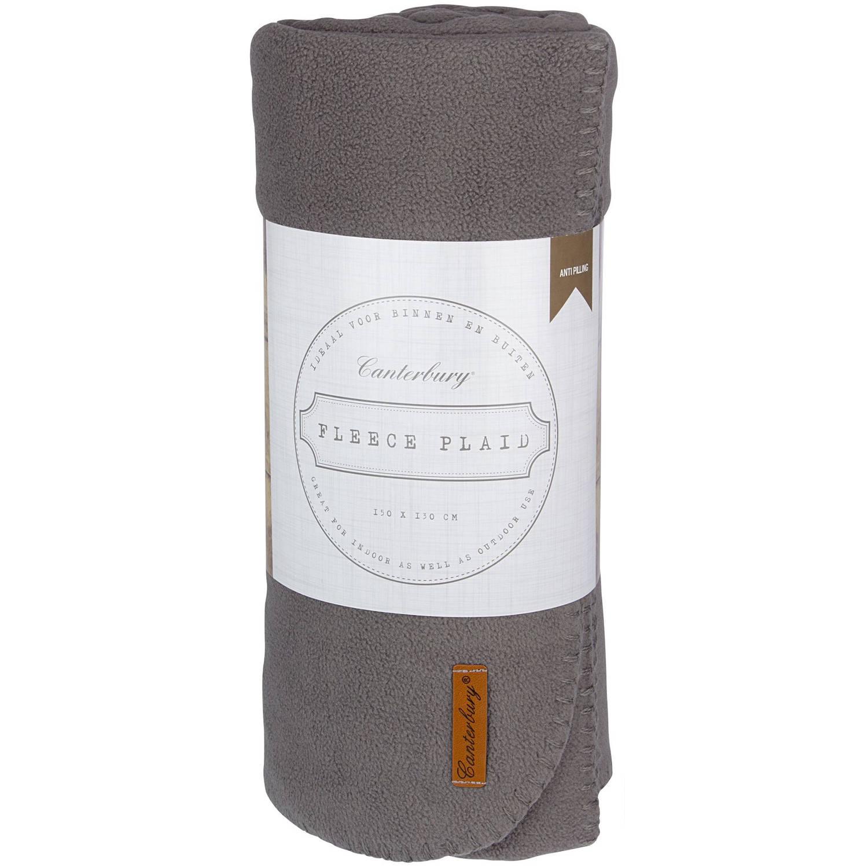 Canterbury fleece-deken Cozy 150 x 130 cm grijs