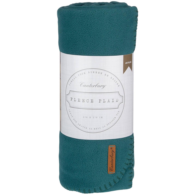 Canterbury fleece-deken Cozy 150 x 130 cm groen