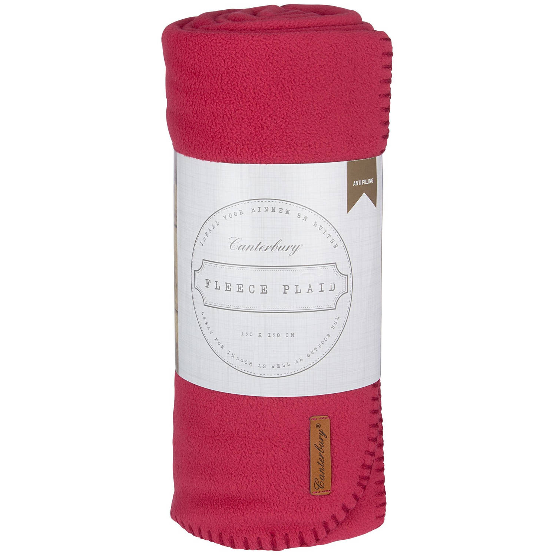 Canterbury fleece-deken Cozy 150 x 130 cm rood