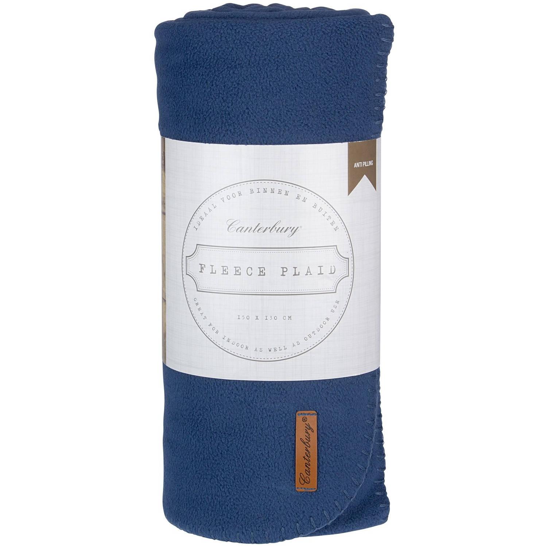 Canterbury fleece-deken Cozy 150 x 130 cm blauw