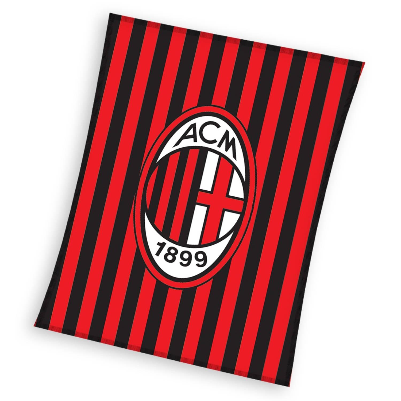 AC Milan fleece-deken 110 x 140 cm rood/zwart