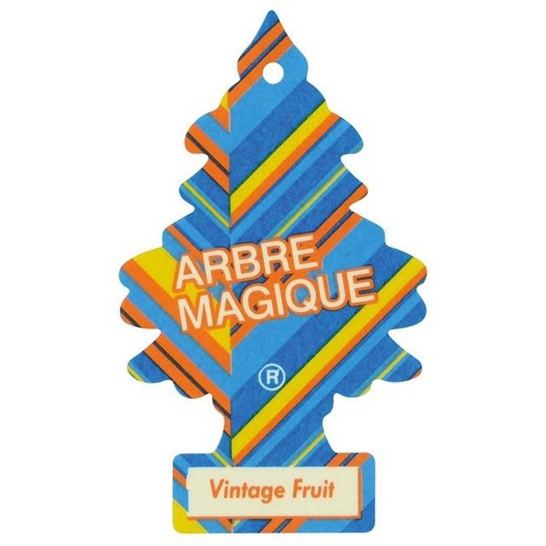 Afbeelding van Arbre Magique luchtverfrisser 12 x 7 cm Vintage Fruit blauw