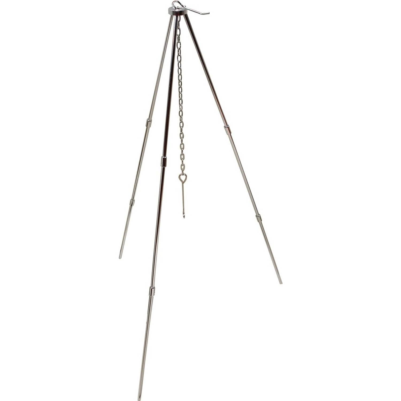 MacGyver driepoot Tripod met ketting RVS 82 x 50 cm zilver