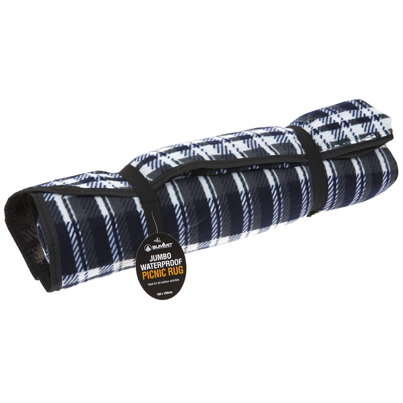 Summit picknickkleed Jumbo fleece grijs 150 x 120 cm
