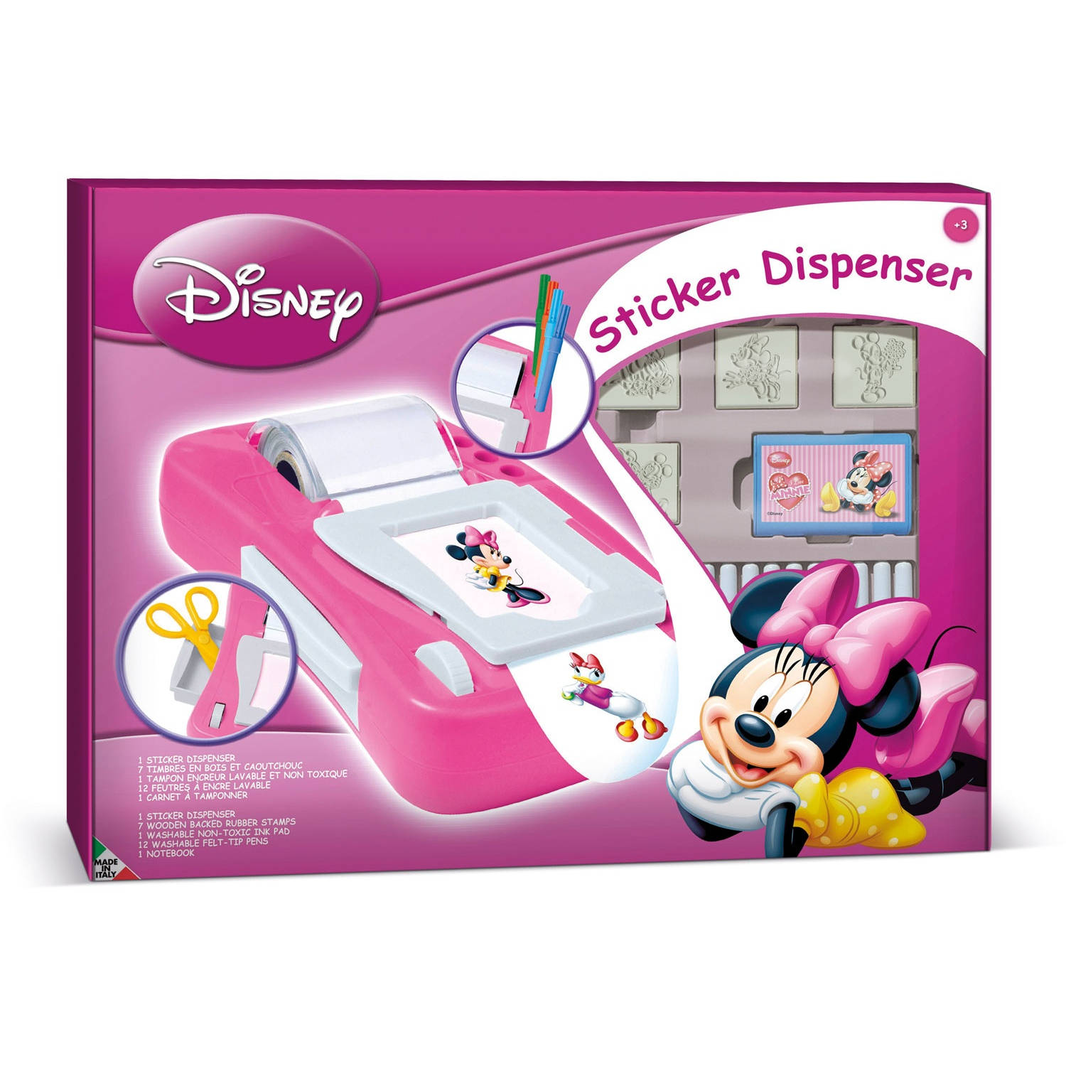 Multiprint kleurset Minnie Mouse 23-delig roze