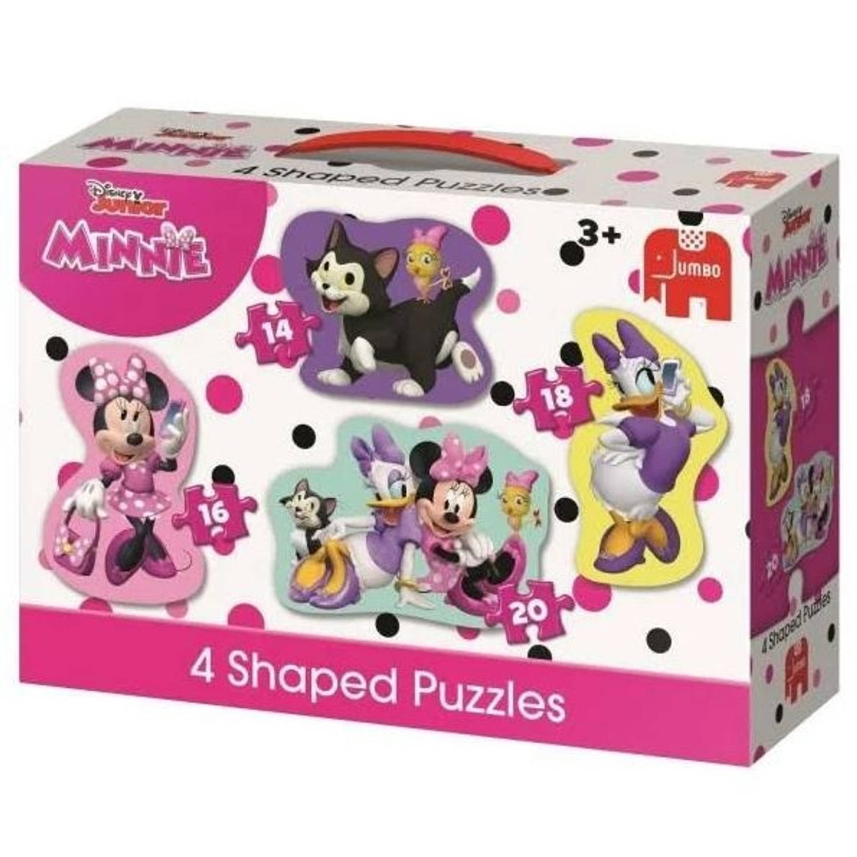 Jumbo Jumbo legpuzzel Disney Minnie Mouse 4 puzzels 12-20-30-36 stukjes