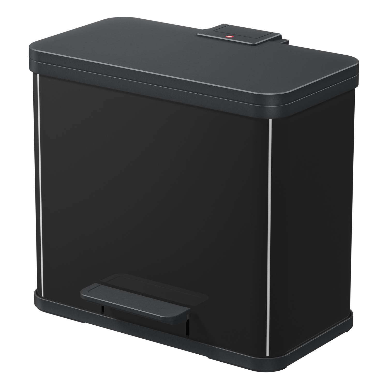 Hailo Öko duo Plus afvalscheider maat L 17 9 liter zwart