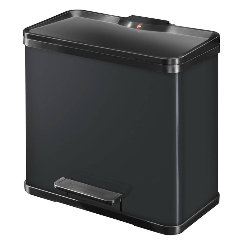 Hailo Öko Trio Plus afvalscheider maat L 3 x 9 liter zwart