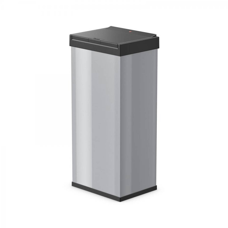 Hailo Big-Box Touch afvalbak - maat XL - 52 liter - zilver