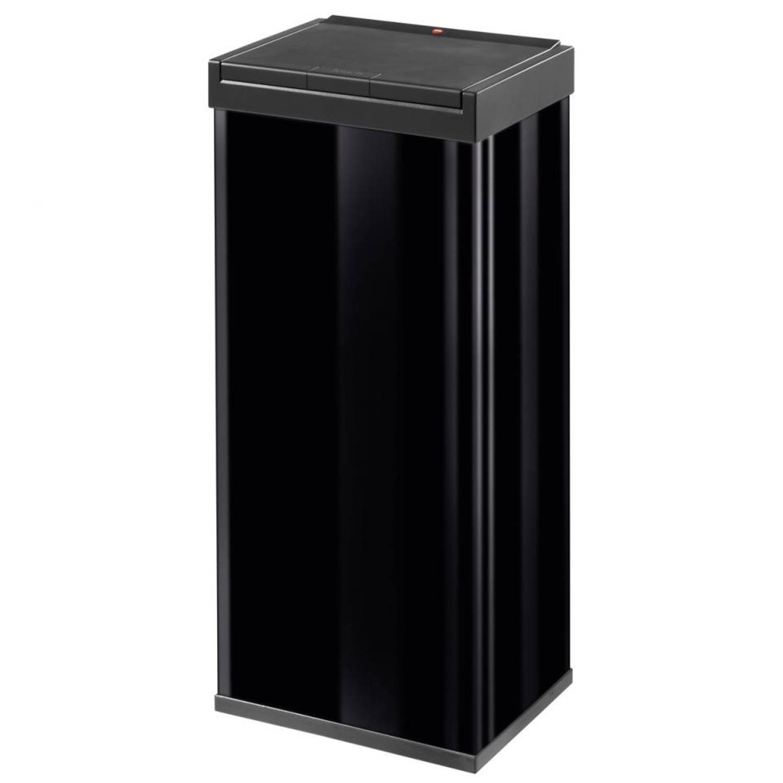Hailo Big-Box Touch afvalbak - maat XL - 52 liter - zwart