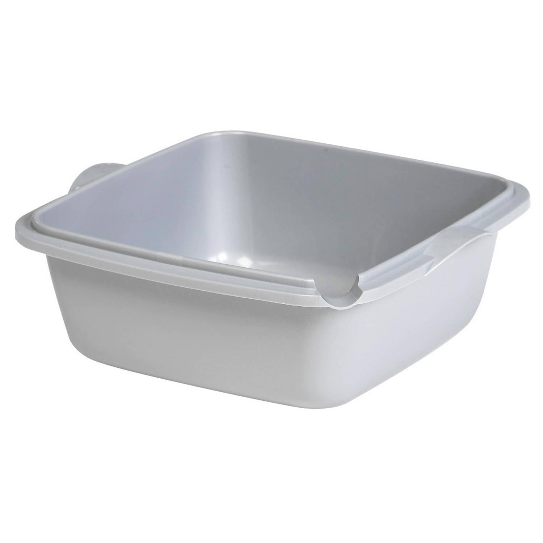 Allibert waskom vierkant ergo 6L grijs Afwasteilen