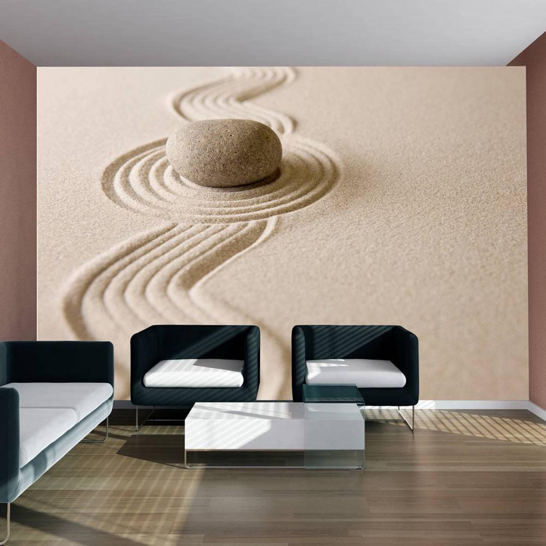 Fotobehang - Zen zand tuin - 300x231