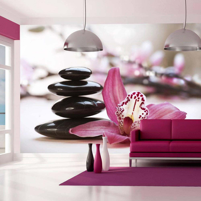 Image of Fotobehang - Ontspanning - Orchidee - 200x154