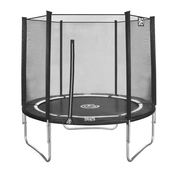 Game On Sport trampoline met veiligheidsnet zwart 244 cm