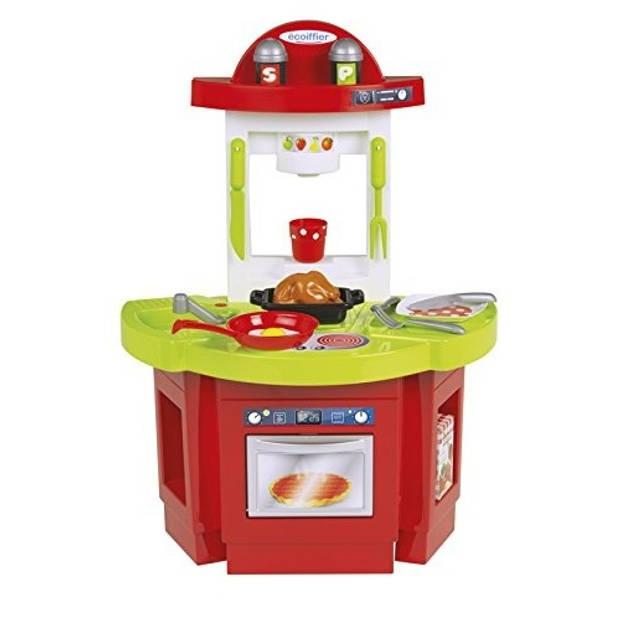 écoiffier speelgoedkeuken 60 x 43,5 x 27 cm rood