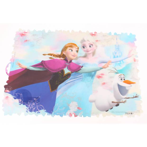 Disney placemat Frozen Floral 3D lichtblauw 42 x 30 cm