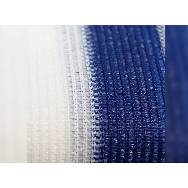 Delux Balkondoek - Balkonzeil - Balkonscherm - 500 x 90 Blauw/Wit